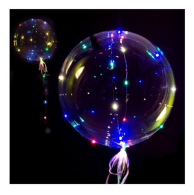 Globo Burbuja Led X 10 Unid Multicolor 30 Luces Luminoso