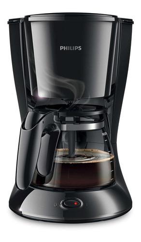 Imagen 1 de 3 de Cafetera Philips Daily Collection HD7447 semi automático negra de filtro 220V