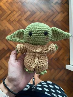 Baby Yoda The Mandalorian Muñeco Crochet Star Wars .