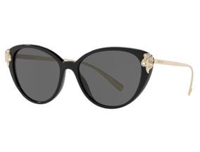 bab03d149 Oculos Sol Versace Ve4351b Gb1/87 55 Preto Brilho Lent Cinza