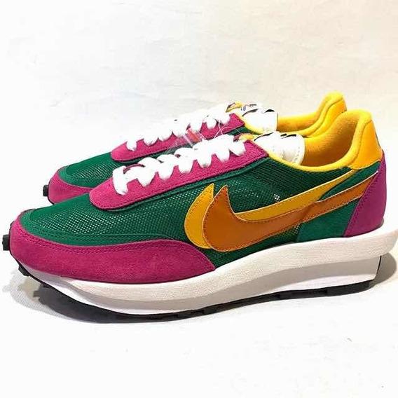 Nike Sacai Ld Waffle Pine Green Tamanho 40