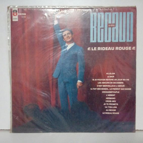 Lp Gilbert Becaud-le Rideau Rouge 1968 (mono)