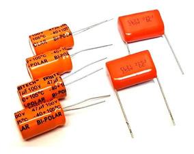 4 Capacitor Corneta 47x100 + 2 Capacitor Sup Tweeter 2m2x250