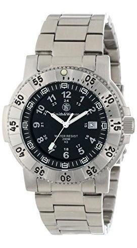 Reloj De Acero Inoxidable Sww-357-ss Aviador Tritio H3 Smith