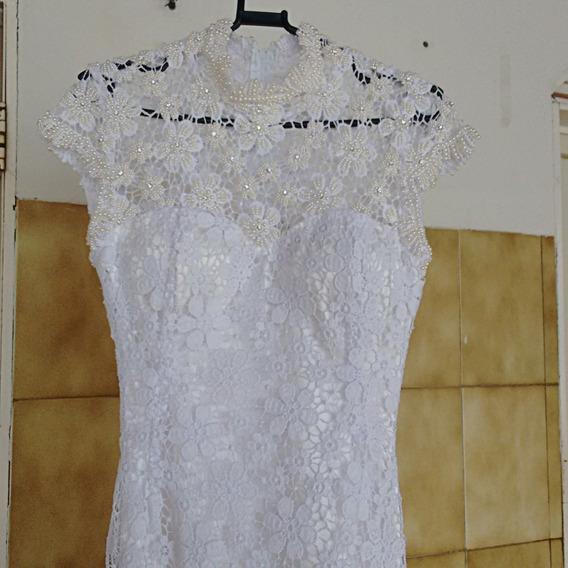 Vestido De Noiva Bordado Modelo Sereia