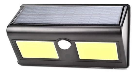 Luminária Solar Parede Com Sensor Movimento Led Cob 96 Leds