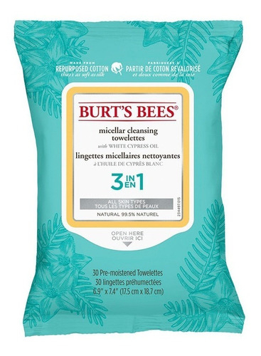 Toallitas Desmaquillantes Burt's Bees Micellar