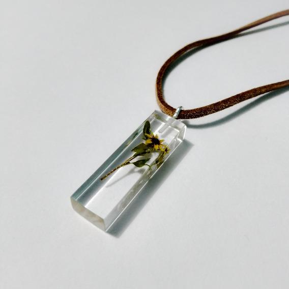 Collar Girasol Miniatura Natural Encapsulado Beckma