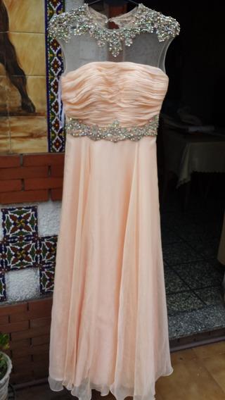 Vestido Largo De Gala Color Durazno