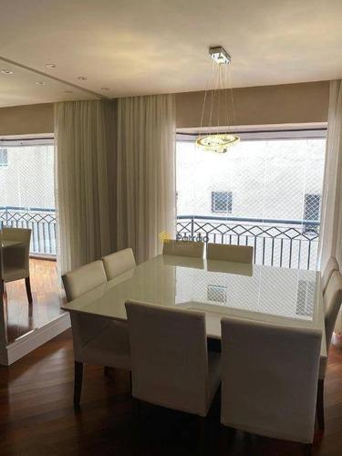Apartamento Com 3 Dormitórios À Venda, 108 M² Por R$ 742.000,00 - Campestre - Santo André/sp - Ap3131
