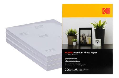 Imagem 1 de 6 de Papel Fotográfico A4 Premium Kodak 240g 100 Folhas (atacado)