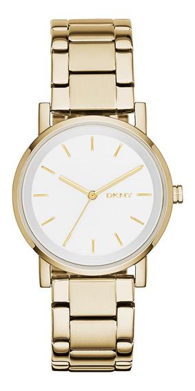 Reloj Dama Dkny Ny2343 Color Dorado De Acero