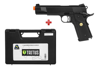 Pistola Airsoft Gás Gbb Colt 1911 728 Double Bell Full Metal