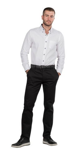 Pantalon Hombre Vestir Negro Stretch Satinado G80300 Mercado Libre