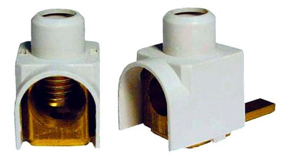 10 Conector Terminal P/ Disjuntor Din Genérico 16mm Frontal