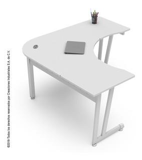 Isla / Escritorio De Trabajo Línea Italia Color Blanco