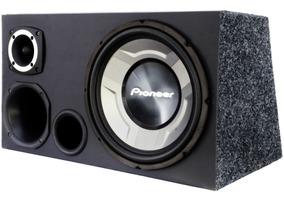 Caixa Trio Pioneer Completa Som Carro Cara Preta 600watts