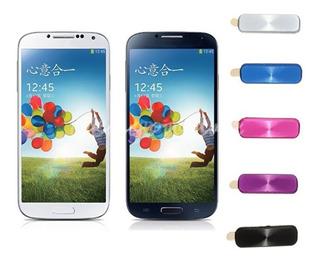 Adesivo Proteção Tecla Home Galaxy S4 Sticker Aluminio