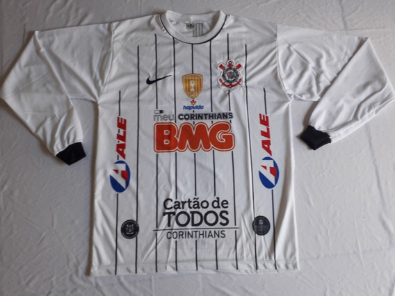 Camisa Manga Longa Corinthians Branca