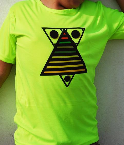 Playera Verde Neon Piramide G