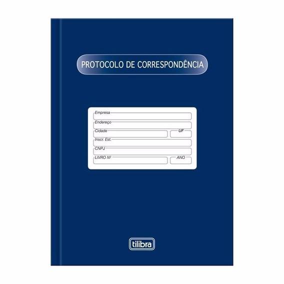 Livro Protocolo De Correspondência 104fls C/05 Und. Tilibra