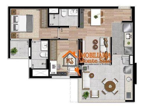 Apartamento Com 2 Dormitórios À Venda, 67 M² Por R$ 771.870,00 - Macedo - Guarulhos/sp - Ap3057