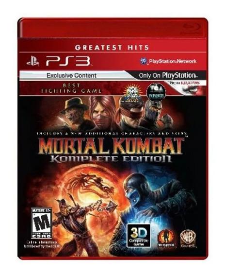 Mortal Kombat Komplete Edit Ps3 Jogo Original Mídia Física