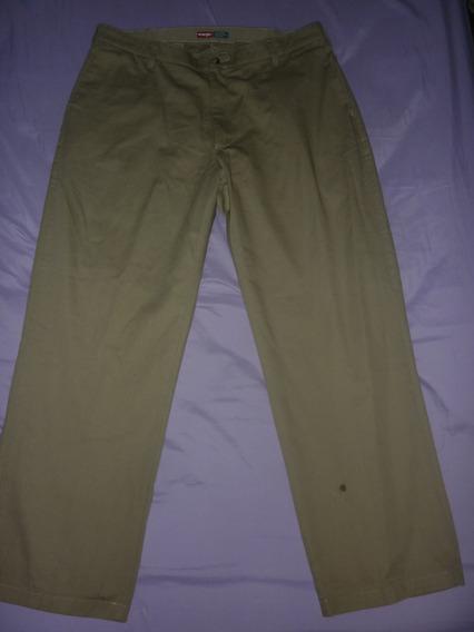 E Pantalon Wrangler Gabardina Comfort Marron Art 73205