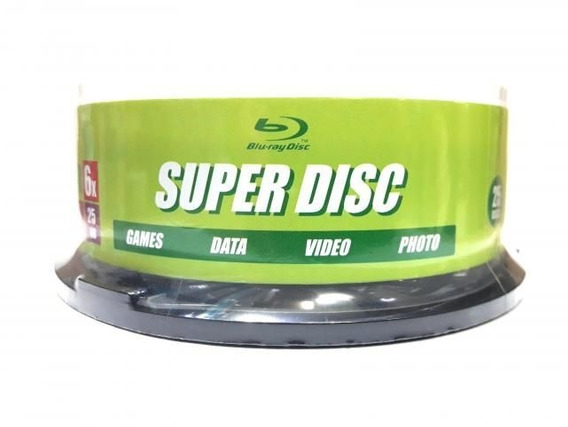 25 Mídias Blu Ray 25gb Super Disc Printable
