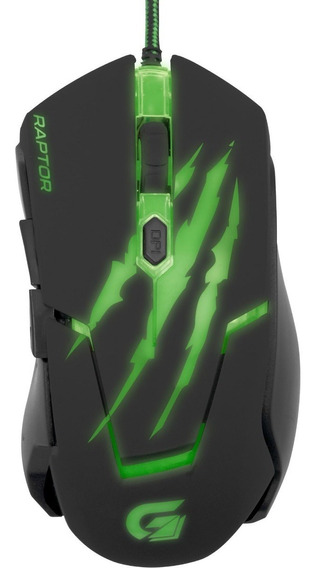 Mouse Gamer Raptor Usb 3200dpi 5 Botões