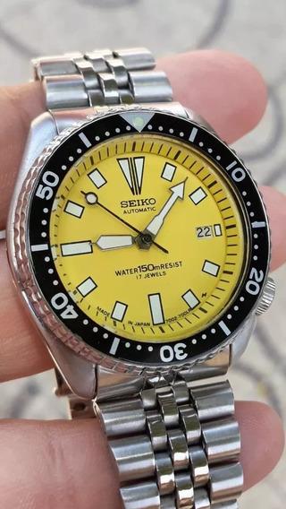 Relógio Seiko Automático Amarelo 7002 Leia Anúncio...