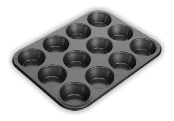 Bandeja Molde Cupcake Ponquesitos 12 Capacillos Antiadherent