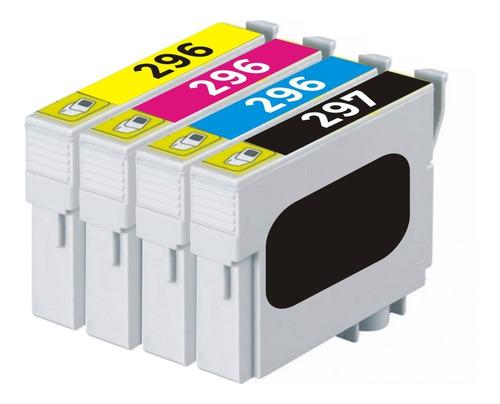 Combo X 4 Cartuchos Alternativos 296 Epson Xp231 Xp441 Xp431