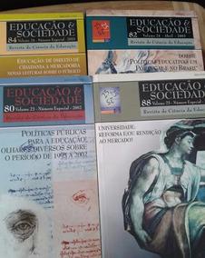 Lote 4 Revistas Educação E Sociedade Vols. 80 82 84 E 88