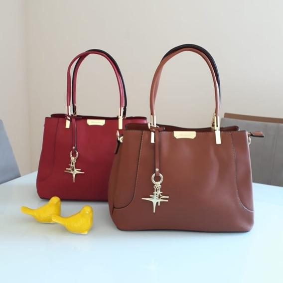 Bolsa Vermelha Média Clássica E Elegante Frete Grátis