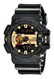Gshock Gba400 Gmix Rotary Switch Reloj Ble Negro Dorado Tall