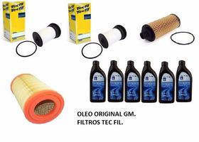 Kit Troca De Óleo Gm 5w30 Dexos 2 Nova S10 Diesel + Filtros