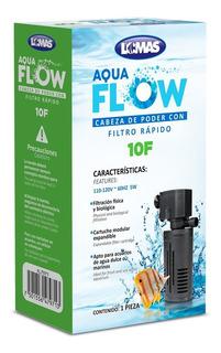 Cabeza De Poder Con Filtro Rápido Aqua-flow 10 Para Acuario