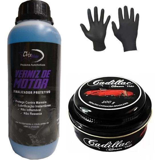 Verniz De Motor + Cera Cadillac Cleaner Wax 300g + Brinde