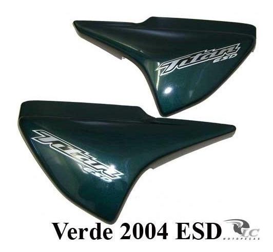 Tampa Lateral Titan 150 Esd Verde 2004 C/ Adesivo