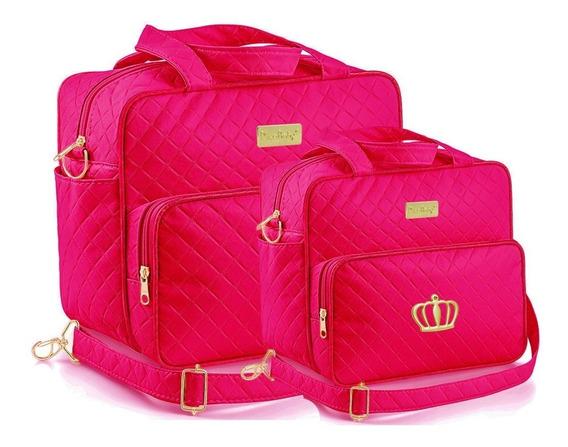 Kit Bolsa Bebê Pink Menina Saída Maternidade Kb72
