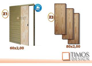 Combo Abertura Interior Corrediza +puertas Habitacion Y Baño