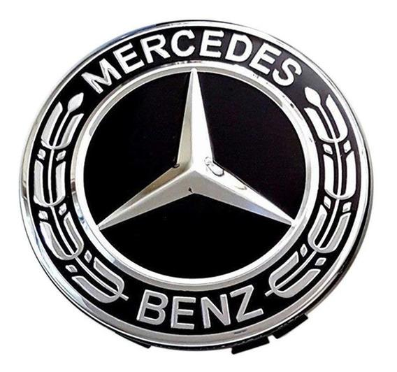 Calota Roda Mercedes Benz 75mm Mod 2 Pronta Entrega