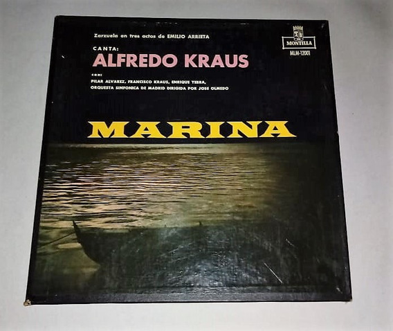 Marina. Alfredo Kraus. Emilio Arrieta. 2 Lp Vinilo. Excelent