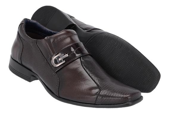 Sapato Social Masculino Em Verniz Ref :913