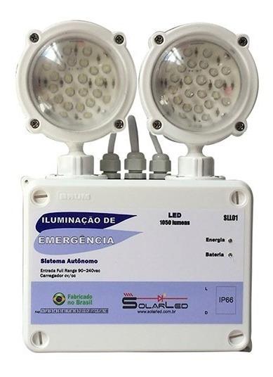 Luminária De Emergência Sll01 1050 Lúmens Profissional