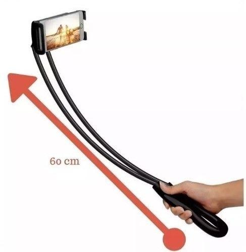 Suporte Pau De Selfie iPhone E Tablet Articulado Pescoço