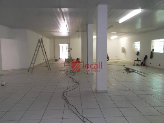 Salão Comercial Para Locação, Jardim Europa, São José Do Rio Preto. - Sl0212