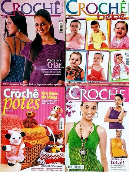 Kit 4 Revistas Crochê