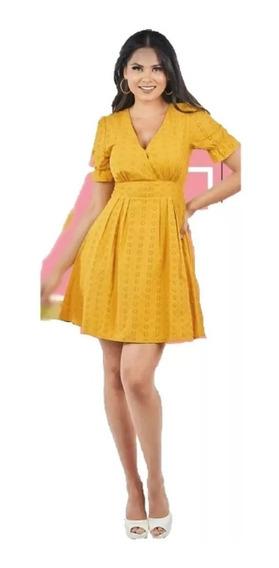 Oferta Remate Vestido Amarillo Cklass 981-04 Tira Bordada